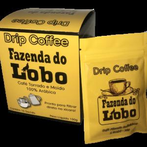 Drip Coffee 100% Arábica 10 sachês Fazenda do Lobo