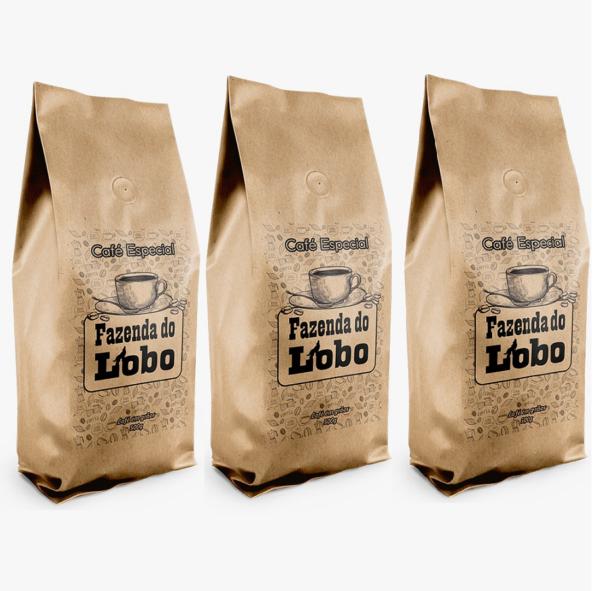 Cafe 500g grao triplo - Café do Lobo